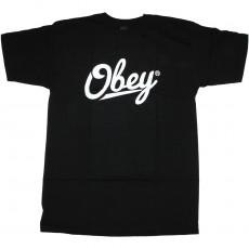 T-Shirt Obey - Jordaan Script - Black