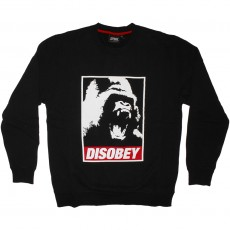 Sweat Shirt Space Monkeys - Disobey Crew neck - Black