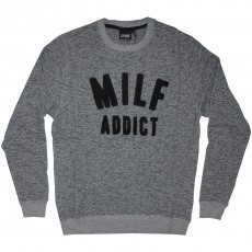 Sweat Shirt Space Monkeys - MILF Crew neck - Mel Heather