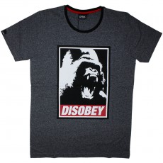 T-Shirt Space Monkeys - Disobey Crew neck Tee - Mel Dk Heather