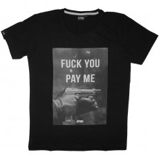 T-Shirt Space Monkeys - Parabellum Crew neck Tee - Black