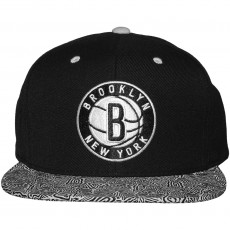 Casquette Snapback Mitchell And Ness - NBA Court Vision - Brooklyn Nets - Black