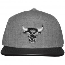 Casquette 6 Panel Hybrid Mitchell And Ness - NBA Refine - Chicago Bulls - Grey Heather