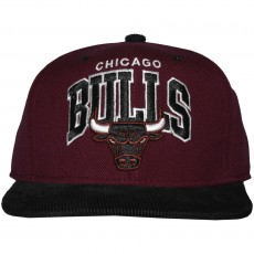 Casquette Snapback Mitchell And Ness - NBA Scholar - Chicago Bulls - Burgundy