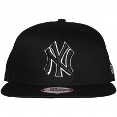 Casquette Snapback New Era - 9Fifty MLB Black-White Basic - New York Yankees