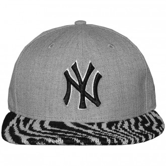 Casquette Snapback New Era - 9Fifty MLB Heather Pair - New York Yankees - Heather Grey / Black / Zebra White