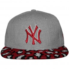 Casquette Snapback New Era - 9Fifty MLB Heather Pair - New York Yankees - Heather Grey / Scarlet / Leopard