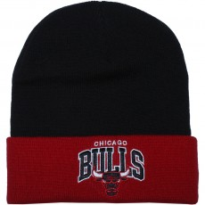 Bonnet Mitchell And Ness - NBA Arched Cuff Knit - Chicago Bulls - Black