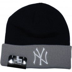 Bonnet New Era - MLB Contrast Cuff - New York Yankees - Navy / Grey