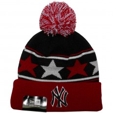 Bonnet New Era - MLB Pommy Star - New York Yankees - Black / Scarlet / White