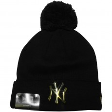 Bonnet Femme New Era - MLB Metal Cuff - New York Yankees - Black / Gold