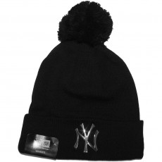 Bonnet Femme New Era - MLB Metal Cuff - New York Yankees - Black / Silver
