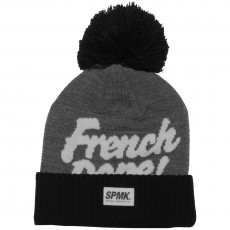 Bonnet Space Monkeys - French Dope Beanie - Dark Heather Grey / Black