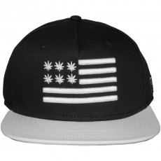 Casquette Snapback Cayler And Sons - Budz And Stripes Cap - Black / White
