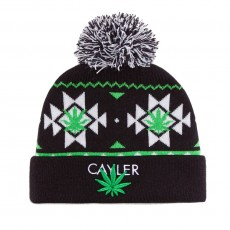 Bonnet Cayler And Sons - Cayler Pom Pom Beanie - Black / White / Green