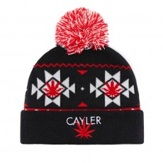 Bonnet Cayler And Sons - Cayler Pom Pom Beanie - Navy / White / Red