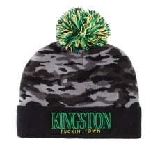 Bonnet Cayler And Sons - Kingston Pom Pom Beanie - Black Camo / Rasta