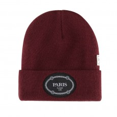 Bonnet Cayler And Sons - Paris Beanie - Maroon / Black / White