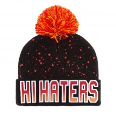 Bonnet Cayler And Sons - Hi Haters Pom Pom Beanie - Black / Fading Red