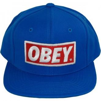 Casquette Snapback Obey - Original - Blue-Blue