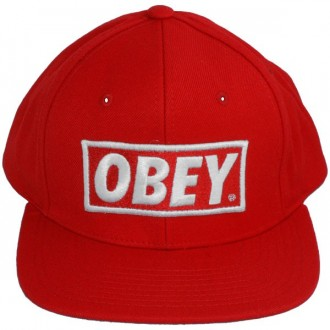 Casquette Snapback Obey - Original - Red-Red