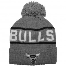 Bonnet Mitchell And Ness - NBA Pom Pom Rec Knit - Chicago Bulls - Grey