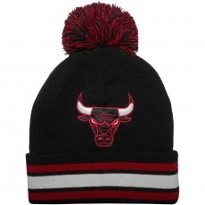 Bonnet Mitchell And Ness - NBA Stripe Knit - Chicago Bulls - Black / Red / White
