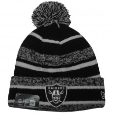 Bonnet New Era - NFL Sport Knit Black Oakland Raiders - Black / White