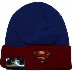 Bonnet New Era x DC Comics - Char Contrast Cuff Superman - Blue / Red