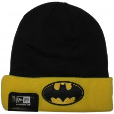 Bonnet New Era x DC Comics - Char Contrast Cuff Batman - Black / Yellow