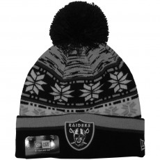 Bonnet New Era - NFL Pom Blizz 2 Oakland Raiders - Black / White