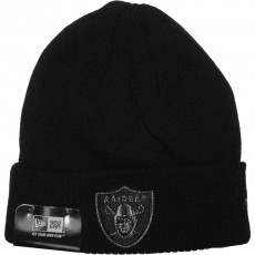 Bonnet New Era - NFL Metallic Knit Oakland Raiders - Black / Black