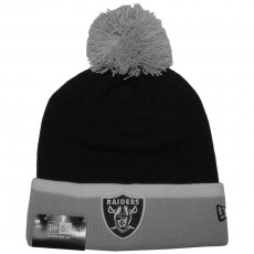 Bonnet New Era - NFL Team Cuff Bobb - Oakland Raiders - Black / Grey