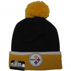 Bonnet New Era - NFL Team Cuff Bobb - Pittsburgh Steelers - Black / Yellow