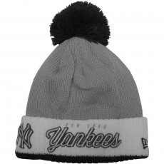 Bonnet New Era - MLB Pom Time 2 New York Yankees - Grey / White