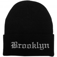 Bonnet Mitchell And Ness - NBA All City Gothic Knit - Brooklyn Nets - Black