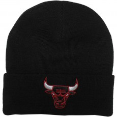 Bonnet Mitchell And Ness - NBA Team Talk Cuff Knit - Chicago Bulls - Black