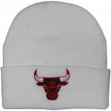 Bonnet Mitchell And Ness - NBA Team Talk Cuff Knit - Chicago Bulls - White