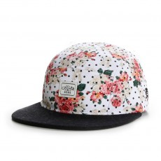 Casquette 5 Panel Cayler And Sons - Paris Throwback 5 Panel Cap - Floral Leather / Black Wool