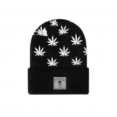 Bonnet Cayler And Sons - Budz n Stripes Old School Beanie - Black / Reflective