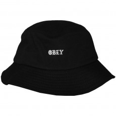 Chapeau Bob Obey - Monogang Bucket Hat - Black