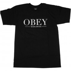 T-Shirt Obey - Bad Luck - Black