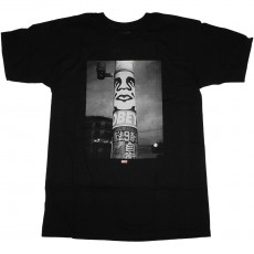 T-Shirt Obey - Obey Poster Pole Photo - Black