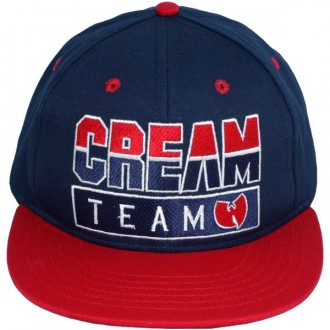 Casquette Snapback Wu-Tang Brand - Cream Team Snapback - Navy Blue