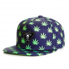 Casquette Snapback Cayler And Sons - Leafs n Stripes 2Tone Cap - Navy / Neon Green