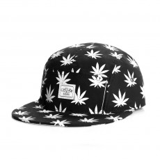 Casquette 5 Panel Cayler And Sons - Leafs n Stripes 5 Panel Cap - Black / White