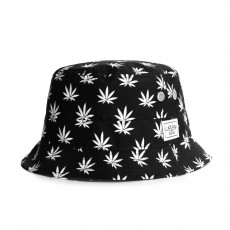 Chapeau Bob Cayler And Sons - Leafs n Stripes Bucket Hat - Black / White