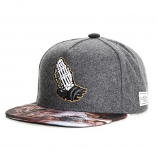 Casquette Snapback Cayler And Sons - Bonez Cap - Black Wool / Mc
