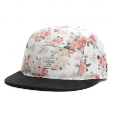 Casquette 5 Panel Cayler And Sons - Paris 5 Panel Cap - Off-White Rose / Black Suede
