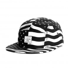 Casquette 5 Panel Cayler And Sons - Flagged 5 Panel Cap - Black / White